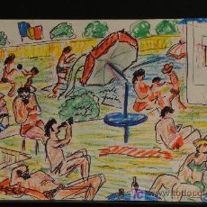 Arte: DIBUJO COLOREADO FIRMADO M. ROGER. Lote 24962836
