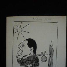 Arte: CARICATURA R. CALVO SERER. EPOCA TRANSICCION. FERNANDO CABEZAS. 23X22 ORIGINAL. . Lote 26520630