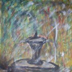 Arte: TECNICA MIXTA SOBRE PAPEL FIRMADA Y FECHADA 1989 , ARTISTA DE MALAGA ?. Lote 12841688