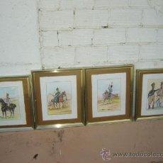 Arte: 4 DIBUJOS EN LAPIZ. MILITAR. Lote 13148760