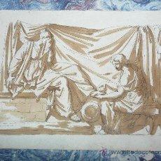 Arte: DIBUJO ORIGINAL ATRIBUIDO JEAN GUILLAUME MOITTE.1746-1810. Lote 13540395
