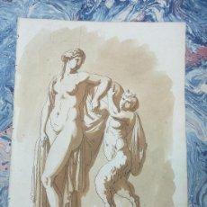Arte: DIBUJO ORIGINAL ATRIBUIDO A JEAN GUILLAUME MOITTE.1746-1810. Lote 13540561