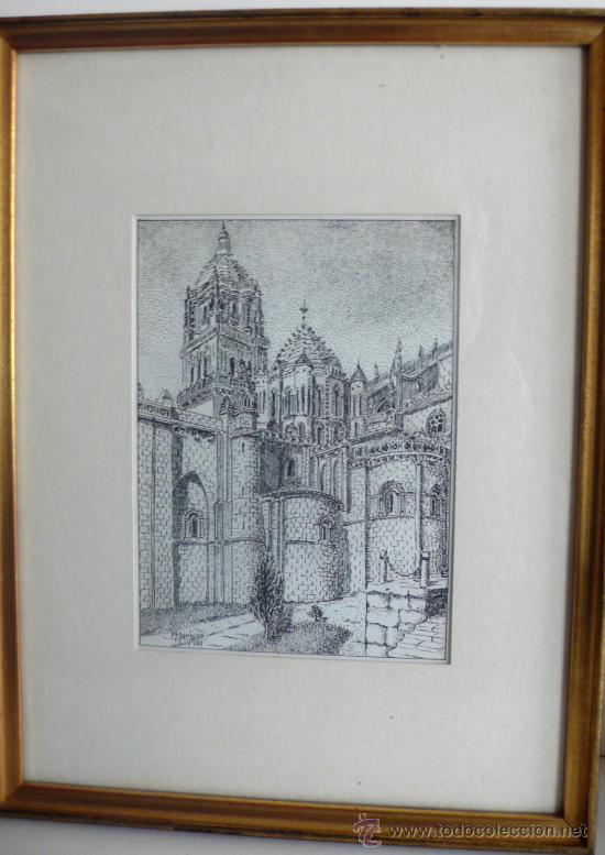 PRECIOSO DIBUJO PLUMILLA FIRMADO M. MUNICIO Y FECHADO (Arte - Dibujos - Contemporáneos siglo XX)
