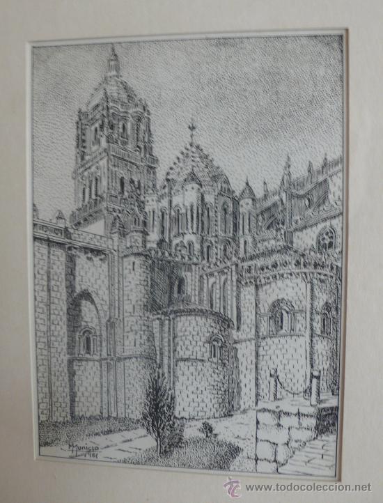 Arte: PRECIOSO DIBUJO PLUMILLA FIRMADO M. MUNICIO Y FECHADO - Foto 2 - 27422518