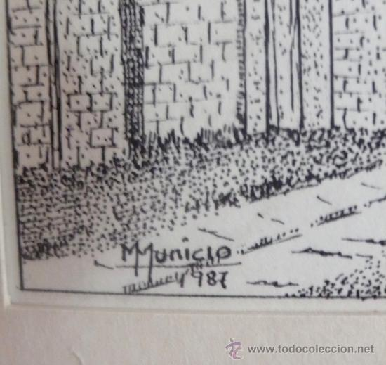 Arte: PRECIOSO DIBUJO PLUMILLA FIRMADO M. MUNICIO Y FECHADO - Foto 3 - 27422518