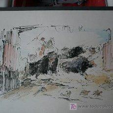 Arte: PLUMILLA COLOREADA, JUAN VIÑES/VIÑAS? TAUROMAQUIA. Lote 25552077