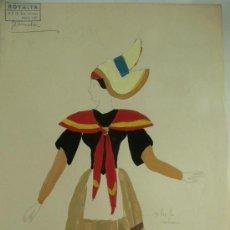 Arte: PRECIOSO GOUACHE, PROCEDENTE DE LOS ARCHIVOS DE LAS CASAS DE MODA FRANCESAS SOUPLET Y RASIMI (3). Lote 26756620