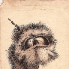 Arte: PRECIOSO DIBUJO EN TINTA CHINA DEL ARTISTA FRANCES MAX PUPAT. Lote 26469728