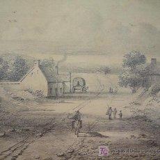 Arte: BONITO PAISAJE BELGA (WATERLOO) CIRCA 1840, ESCUELA BELGA.. Lote 15104312