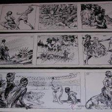 Arte: DIBUJO ORIGINAL, 9 HISTORIETAS ILUSTRADAS POR BECQUER, SALEN PUBLICADAS EN LA REVISTA VIRULET. Lote 15194572