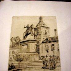 Arte: DIBUJO A PLUMILLA ESCENA MADRILEÑA S.XIX. Lote 27546690