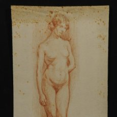 Arte: DESNUDO FEMENINO FIRMADO FERRATER. AÑO 1913. Lote 25007267