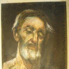 Arte: DIBUJO CON CERAS DE BUSTO MASCULINO SOBRE CARTULINA FIRMADO JUANÓN (JUAN FERNANDEZ IBARLOZA ). Lote 27471600