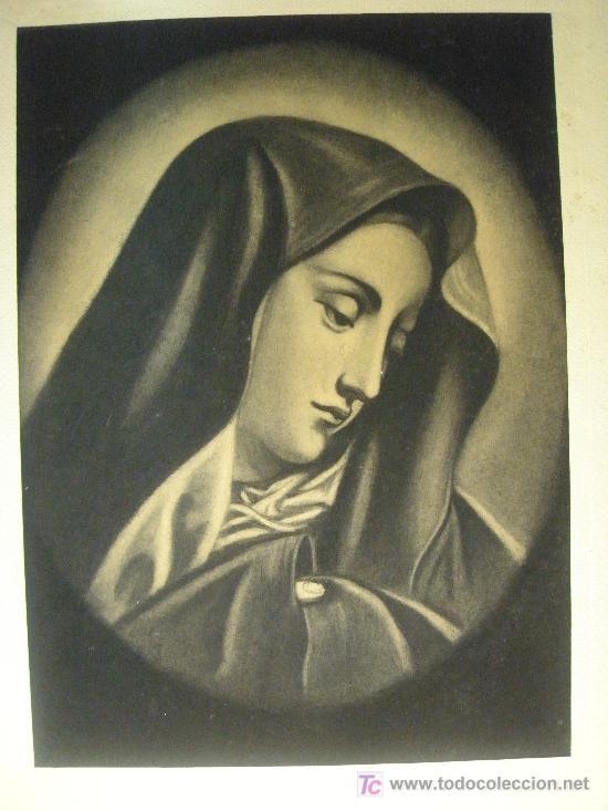 MATER DOLOROSA AL CARBONCILLO (Arte - Dibujos - Contemporáneos siglo XX)