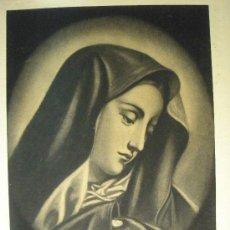Arte: MATER DOLOROSA AL CARBONCILLO. Lote 27471601