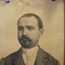 Arte: RETRATO AL CARBON FIRMADO J. VALENZUELA EN 1891. Lote 27582360