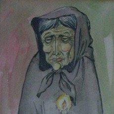 Arte: J007-JOAN VILÀ MONCAU, PINTOR DIBUJANTE Y GRABADOR NACIDO EN VIC EN 1924. ESTABLECIDO EN OLOT. Lote 26754795