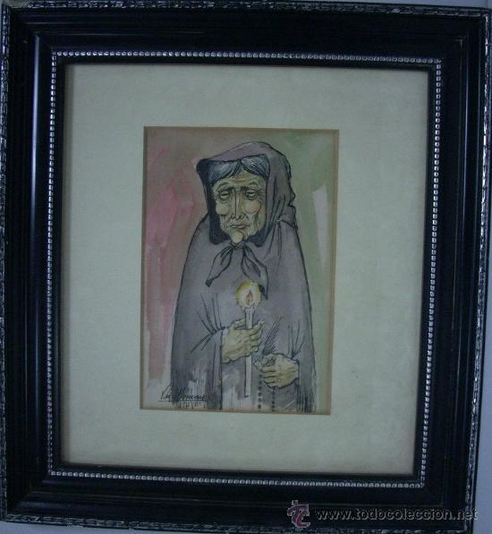Arte: J007-Joan VILÀ MONCAU, Pintor dibujante y grabador nacido en Vic en 1924. Establecido en Olot - Foto 2 - 26754795