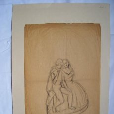 Arte: 'ARLEQUÍN' DIBUJO PRIMERA MITAD SIGLO XX.. Lote 27089860