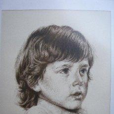 Arte: RETRATO A PLUMILLA DE 1977 FIRMADO J.L.BELLOD. Lote 26810142