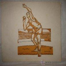 Arte: DIBUJO GRABADO? FIRMADO MIGUEL ARJONA 61. Lote 17222668