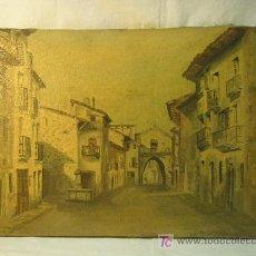 Arte: VISTA URBANA DE PUEBLO ARAGONES DE LOS AÑOS 40. Lote 27449792