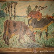 Arte: DIBUJO DE ESCUELA AÑOS 40 . Lote 17360051