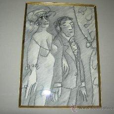 Arte: DIBUJO CON MARCO Y PASPARTÚS-ANTONIO LAGO RIVERA 1983-.. Lote 26417146