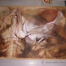 Arte: TÉCNICA MIXTA SOBRE TELA - 100 X 73 CM.. Lote 21873950