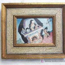 Arte: DIBUJO ORIGINAL A LA TINTA - ILUSTRACION CUENTO INFANTIL (ENMARCADO). Lote 23783588