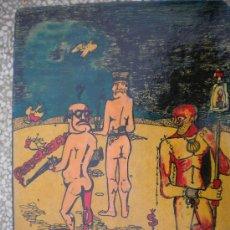 """Arte: DIBUJO INCOMPRENSION, DIBUJADO Y PINTADO EN 1974 POR PEDRO HERRERO ALDAMA-""""HERMULLER"""". Lote 18611097"""