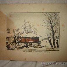 Arte: LA CORREDOIRA-QUINTANA (ASTURIAS) FIRMADO MARY.C.. Lote 25035846