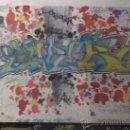 Arte: GRAFITTIS DIBUJO ORIGINAL FIRMADO GRAFFITI REALIZADO CON ROTULADORES FIRMADO. Lote 21081264