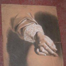 Arte: ANTIGUO PRECIOSO DIBUJO SIGLO XIX A CARBONCILLO FIRMADO. Lote 19197606