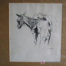 Arte: DIBUJO A PLUMILLA FIRMADO CORBI. Lote 26298411