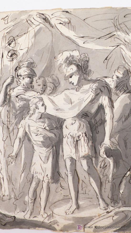 Arte: DIBUJO A TINTA A DOBLE CARA, SOBRE PAPEL, S.XVIII, CATALUÑA. 20 X 25 CM. - Foto 9 - 25879343