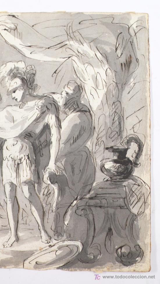 Arte: DIBUJO A TINTA A DOBLE CARA, SOBRE PAPEL, S.XVIII, CATALUÑA. 20 X 25 CM. - Foto 7 - 25879343