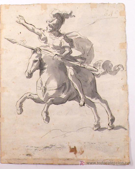 Arte: DIBUJO A TINTA A DOBLE CARA, SOBRE PAPEL, S.XVIII, CATALUÑA. 20 X 25 CM. - Foto 6 - 25879343