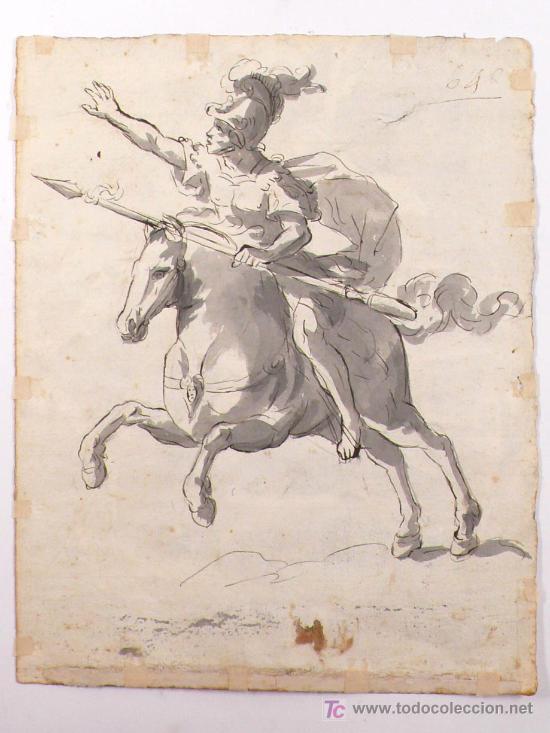 Arte: DIBUJO A TINTA A DOBLE CARA, SOBRE PAPEL, S.XVIII, CATALUÑA. 20 X 25 CM. - Foto 5 - 25879343