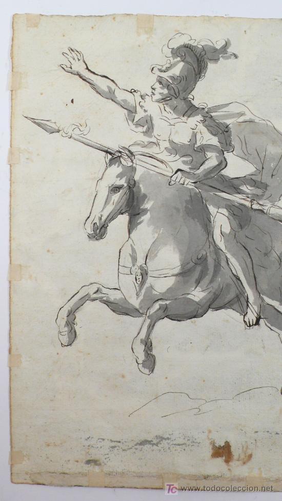 Arte: DIBUJO A TINTA A DOBLE CARA, SOBRE PAPEL, S.XVIII, CATALUÑA. 20 X 25 CM. - Foto 4 - 25879343