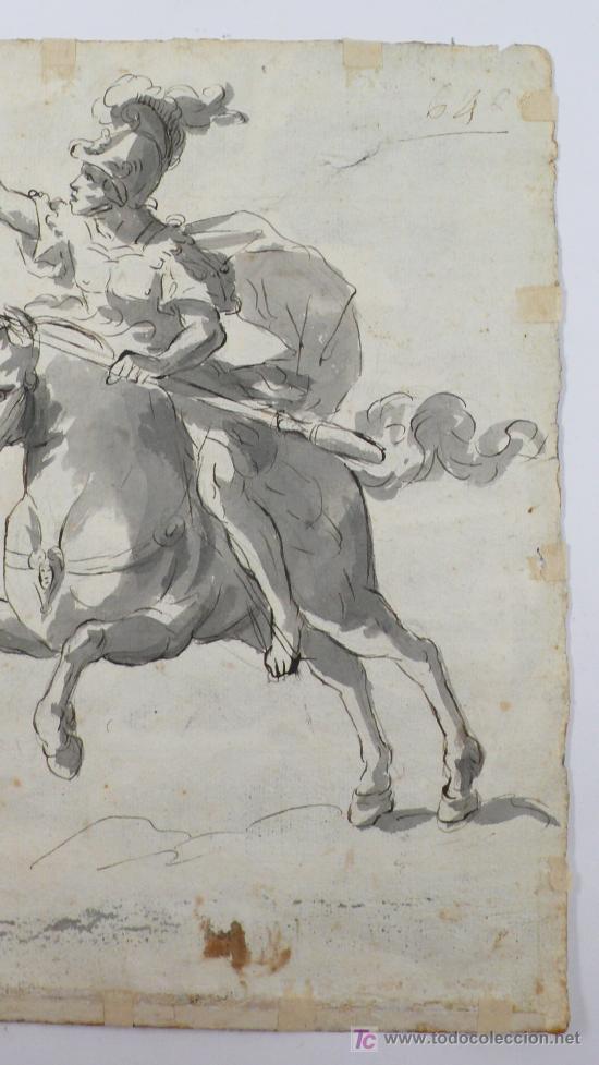 Arte: DIBUJO A TINTA A DOBLE CARA, SOBRE PAPEL, S.XVIII, CATALUÑA. 20 X 25 CM. - Foto 3 - 25879343