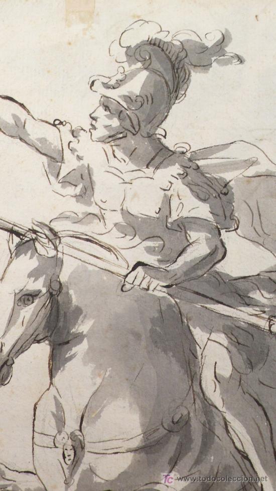 Arte: DIBUJO A TINTA A DOBLE CARA, SOBRE PAPEL, S.XVIII, CATALUÑA. 20 X 25 CM. - Foto 2 - 25879343