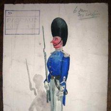 Arte: PRECIOSO GOUACHE, PROCEDENTE DE LOS ARCHIVOS DE LAS CASAS DE MODA FRANCESAS SOUPLET Y RASIMI (6). Lote 26756618