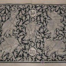 Arte: SEDA PINTADA A MANO, EN NEGRO CON MOTIVOS ORIENTALES, PRODEDE DE MYANMAR, 40 AÑOS DE ANTIGÜEDAD.. Lote 21250528