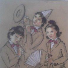 Arte: MERCEDES MALET TRAVY. PINTORA Y DIBUJANTE NACIDA EN BARCELONA EN 1918. Lote 27181633