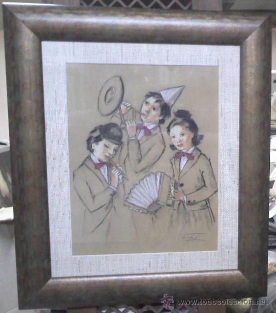 Arte: Mercedes Malet Travy. Pintora y dibujante nacida en Barcelona en 1918 - Foto 2 - 27181633