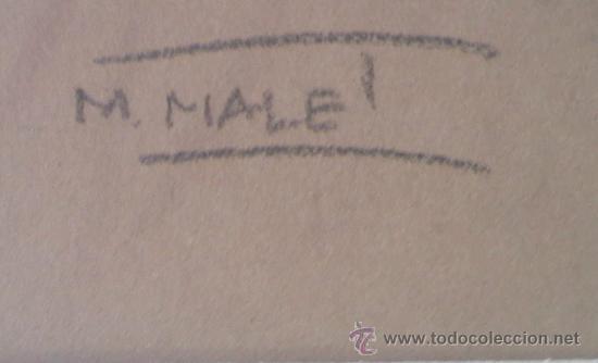 Arte: Mercedes Malet Travy. Pintora y dibujante nacida en Barcelona en 1918 - Foto 3 - 27181633