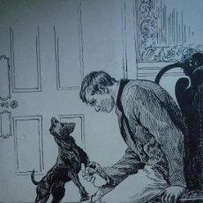 Arte: RETRATO DE UN HOMBRE JUNTO A SU PERRO, FIRMADO Y FECHADO NORA JONES, ENERO 1896, CALIDAD S. XIX. Lote 21708608