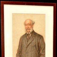 Arte: RAMON PALMAROLA ROMEU. DIBUJO A CARBÓN Y SANGUINA FECHADO EN PARÍS DEL AÑO 1908 (RETRATO). Lote 27363841
