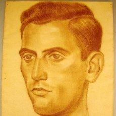 Arte: RETRATO AL PASTEL (1937) ORIGINAL FIRMADO Y DEDICADO POR LUIS RAMOS ROSA (MÁLAGA 1903-65) NO COPIA. Lote 27061990